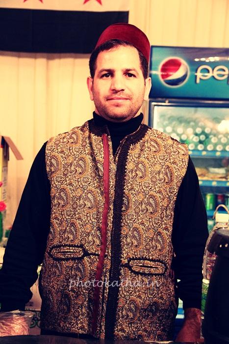 Man behind Arabic Icecream.