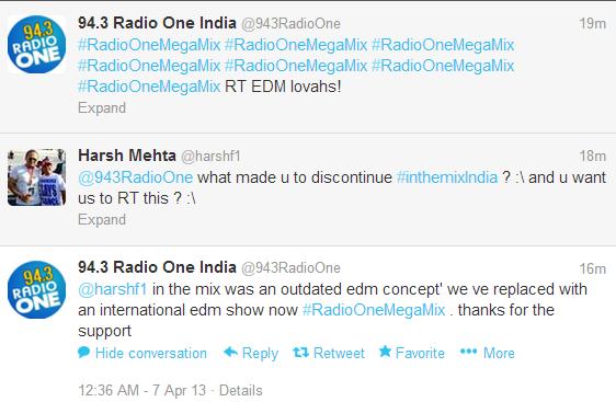 Radio 94.3, Inthemix india, Nikhil