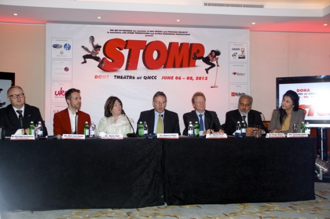 Stomp Qatar, Qatar, Ilove Qatar, ILQ, Ajeebness, London Olympics, Travel, photography, Doha News, Music, Stomping, Household Music, press conference